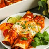 Veggie Enchiladas on a plate