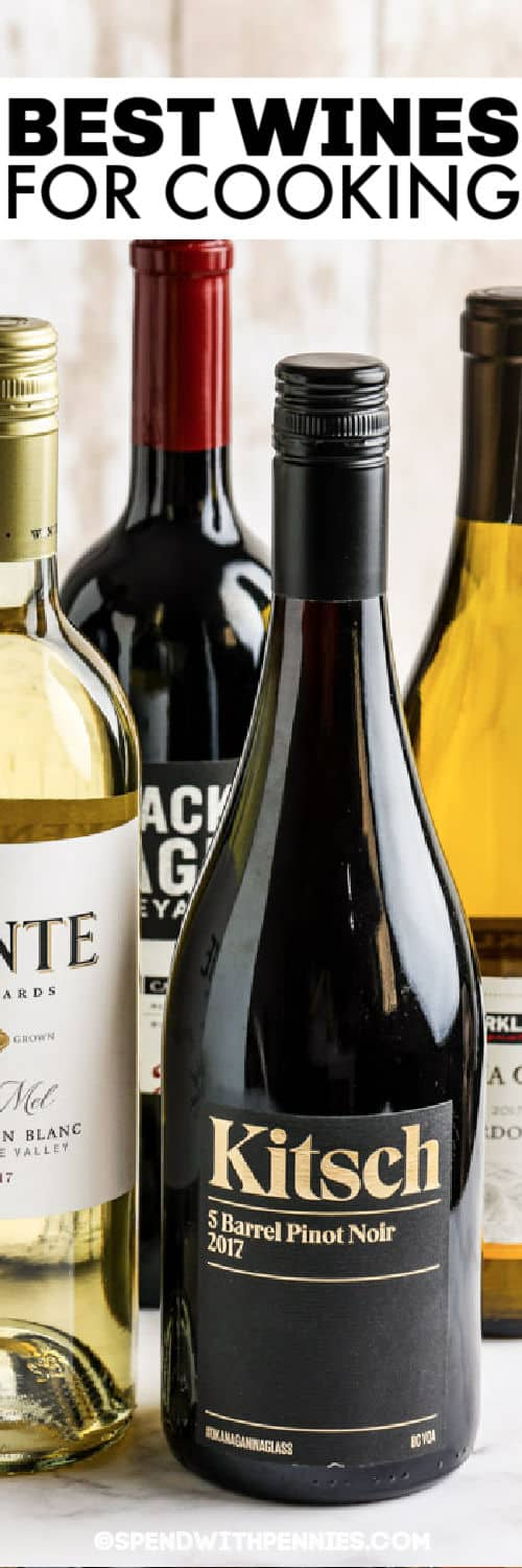 close up of Best Wines for Cooking with a title