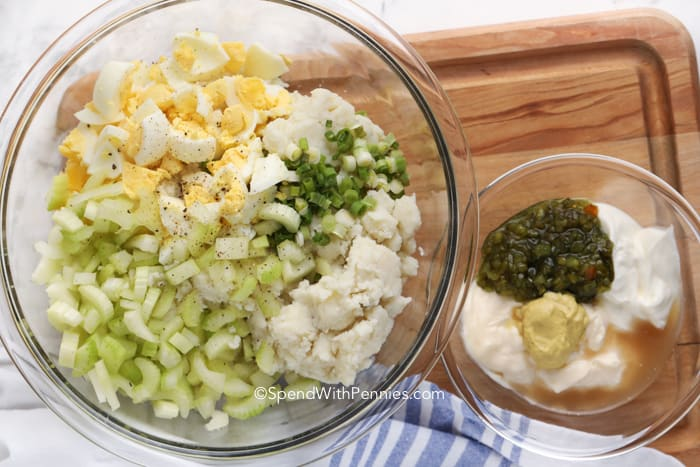 ingredients for mashed potato salad