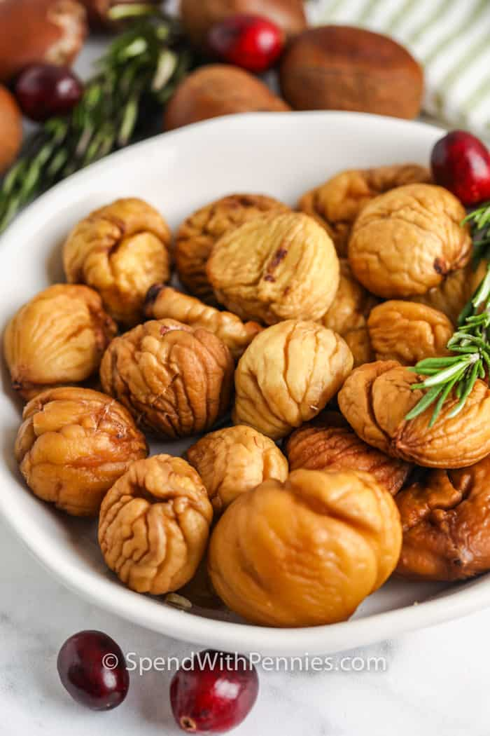 Roasted Chestnuts in a bowl