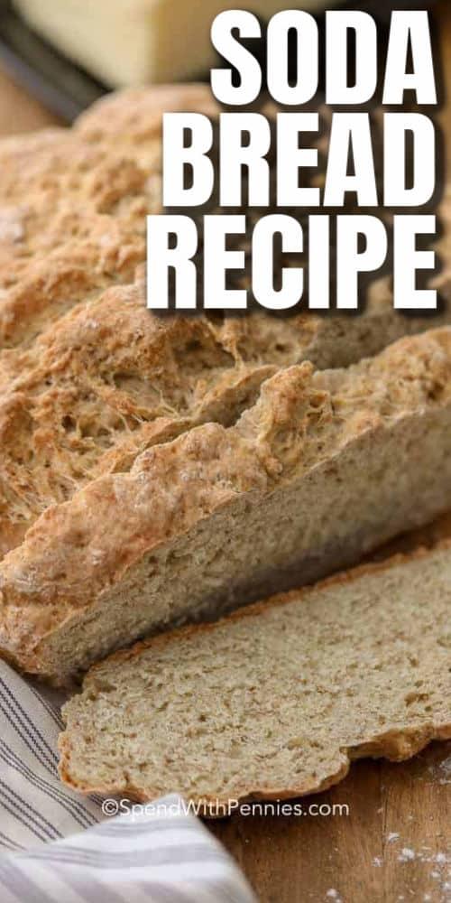 Irish Soda Bread with writing