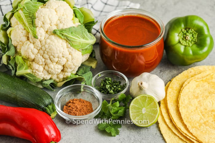 ingredients to make Veggie Enchiladas