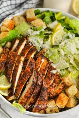 Chicken Caesar Salad in a bowl