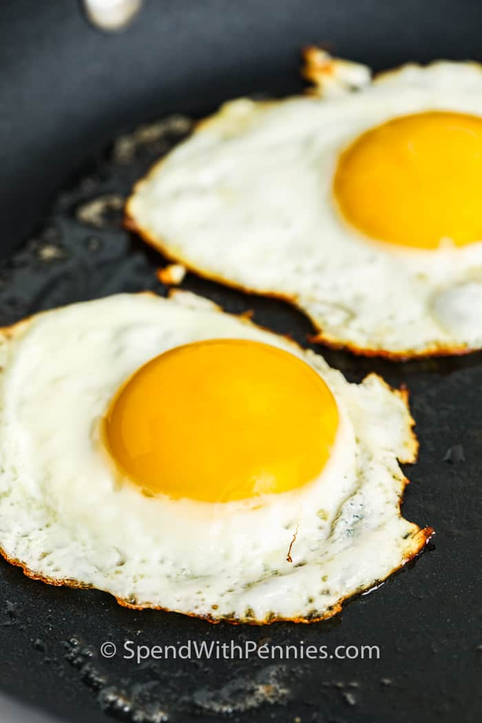 Fried Eggs cooking