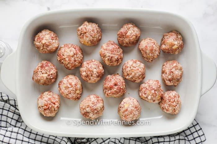 Ham Balls on a casserole dish