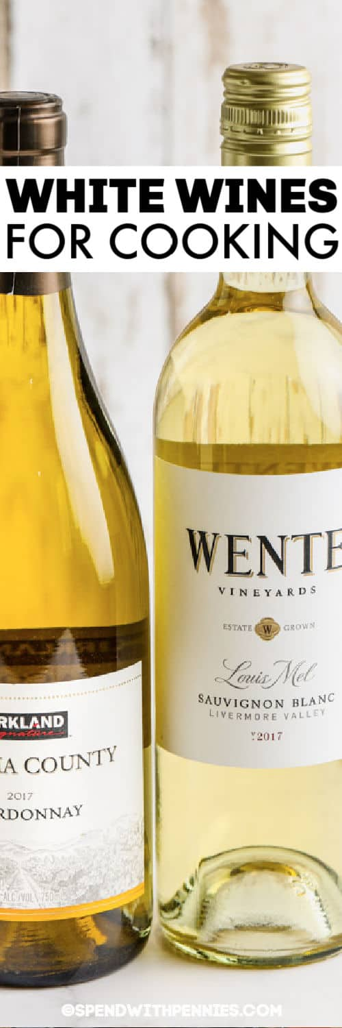 White Wine for Cooking with a title