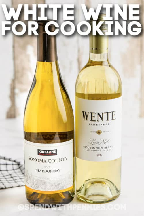 White Wine for Cooking with writing