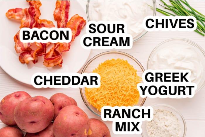 ingredients to make Bacon Ranch Potato Salad