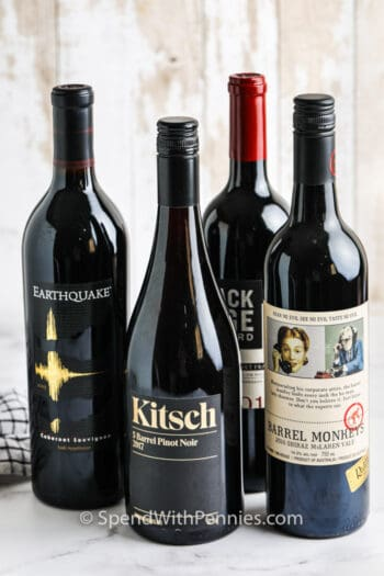 bottles of Red Wine for Cooking