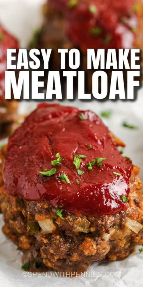 Mini Meatloaf with writing