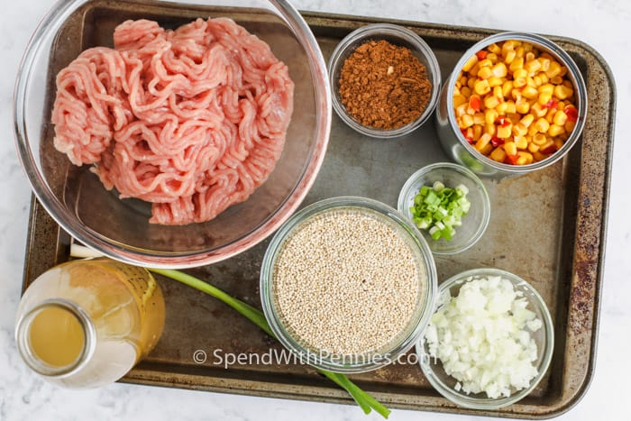 ingredients to make Taco Quinoa Bowl