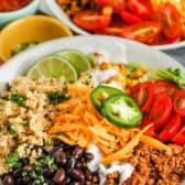 close up of Taco Quinoa Bowl