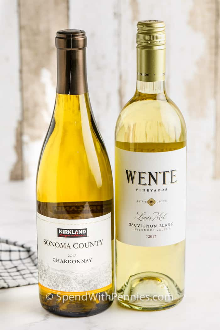 White Wine for Cooking on a table