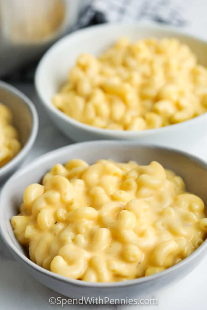 bowls of 15 Minute Mac and Cheese