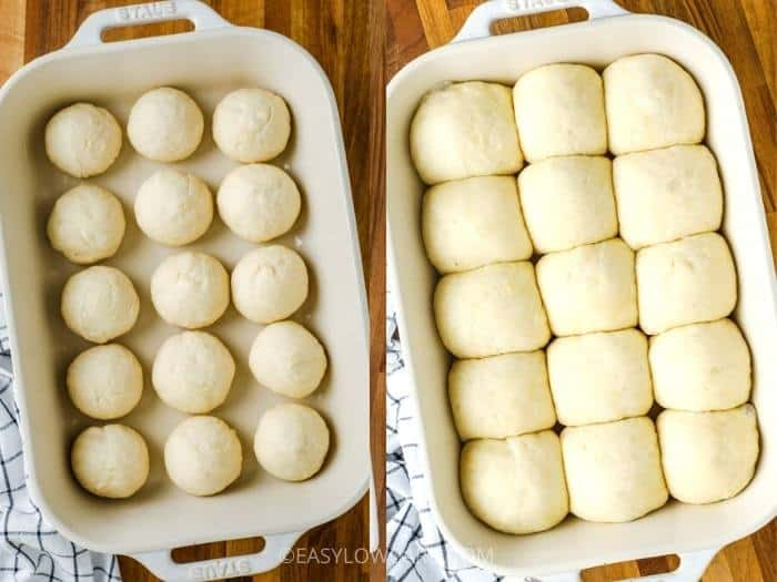 process of waiting for Dinner Rolls to rise