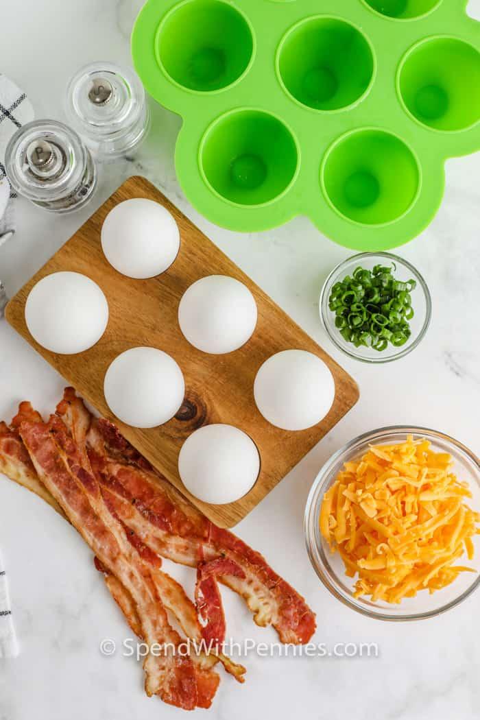 Air fryer Egg Bites ingredients