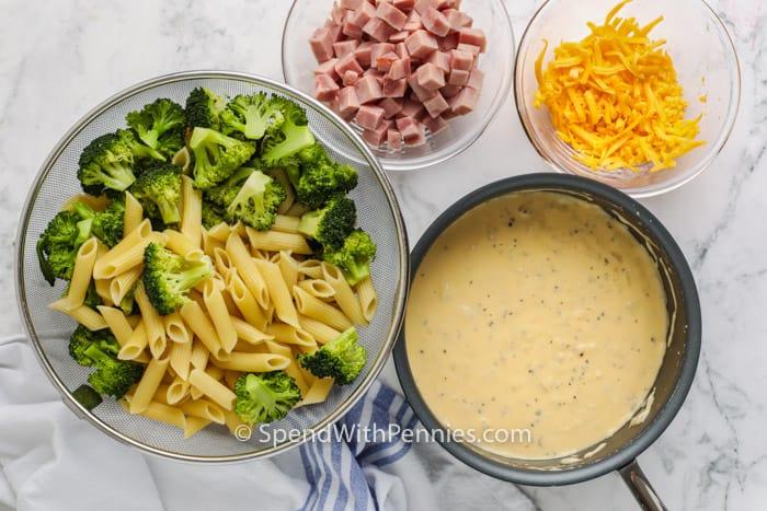 ingredients to make Broccoli Casserole