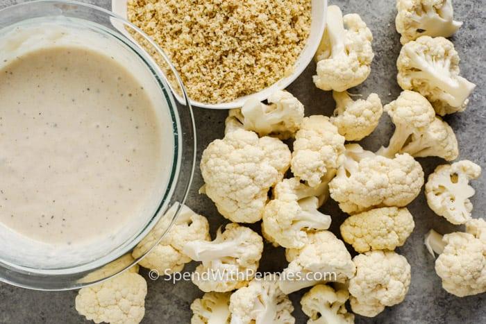 ingredients to make Cauliflower Wings