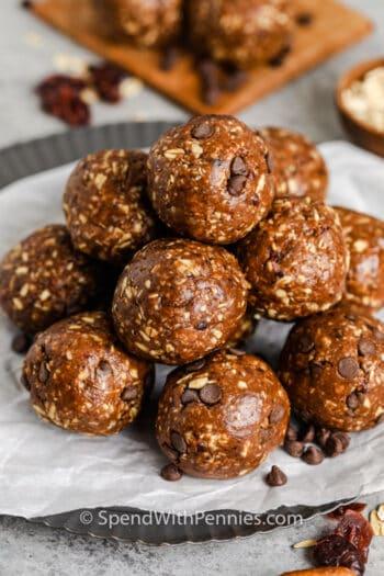 plated Chocolate Energy Balls