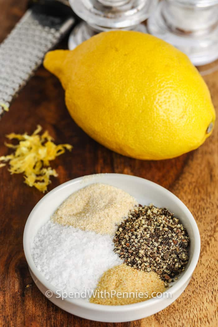 ingredients to make Homemade Lemon Pepper Seasoning