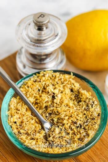 plated Homemade Lemon Pepper Seasoning