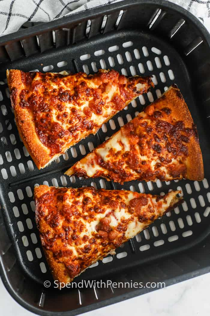 pizza in air fryer to show How to Reheat Pizza