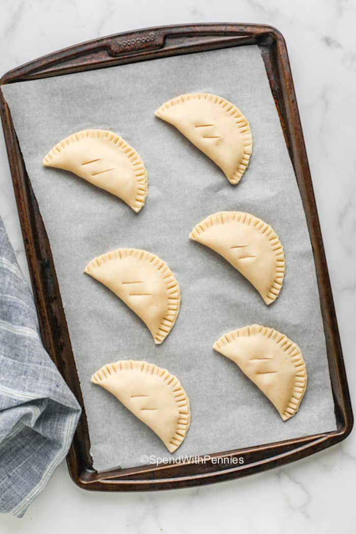 Hand pies unbaked
