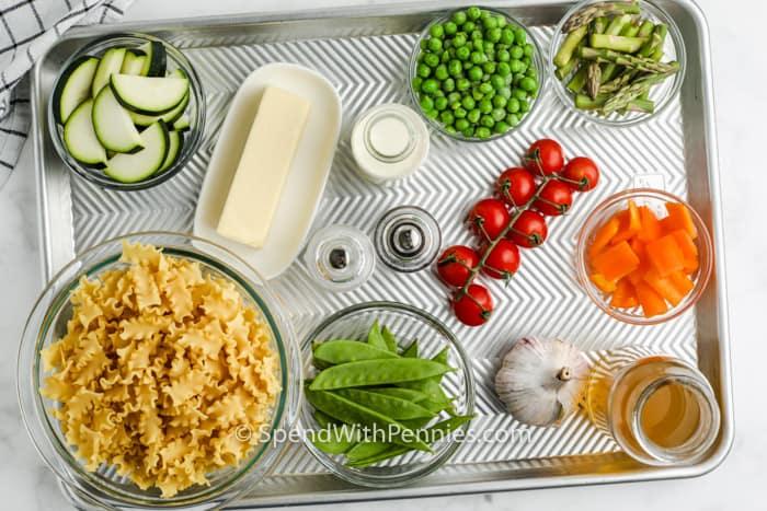 ingredients to make Pasta Primavera
