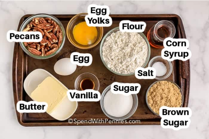ingredients labelled for a recipe