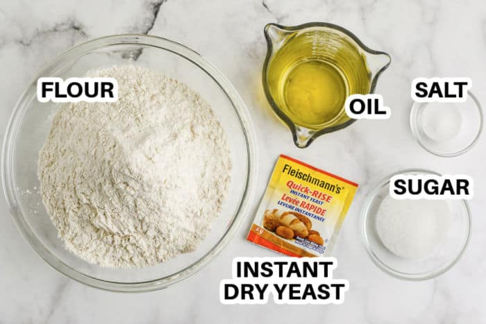 ingredients to make Pizza Dough
