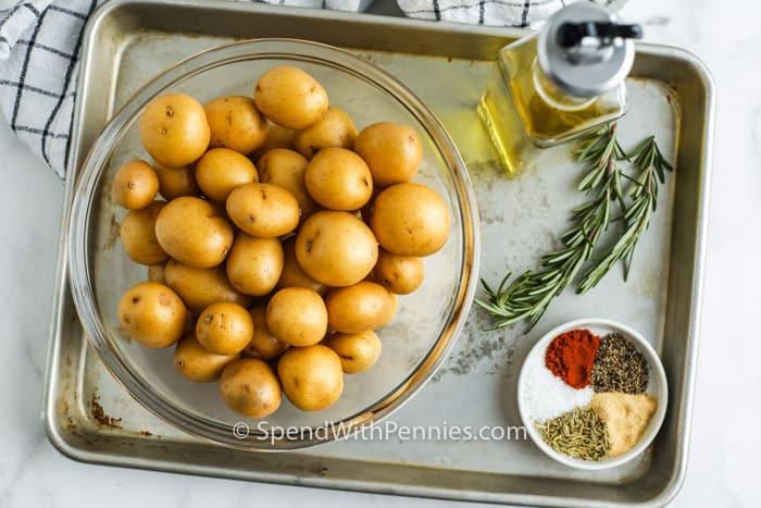 ingredients to make Rosemary Baby Potatoes