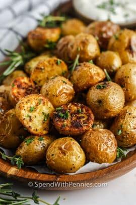 close up of Rosemary Baby Potatoes
