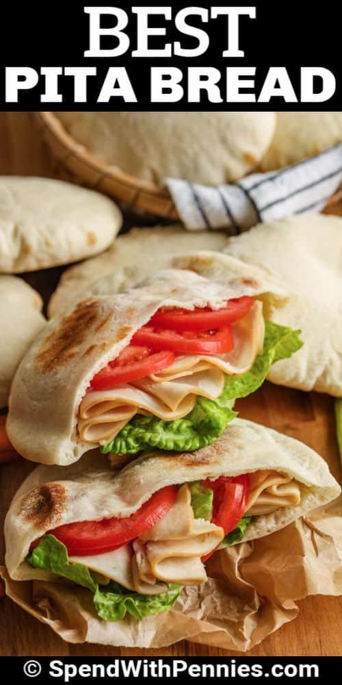 Pita Bread sandwiches with a title