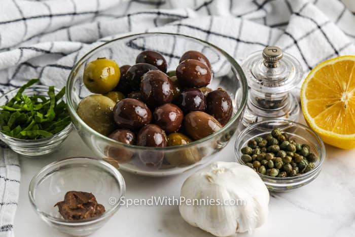 ingredients to make Tapenade
