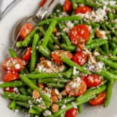 green bean salad on a serving dish