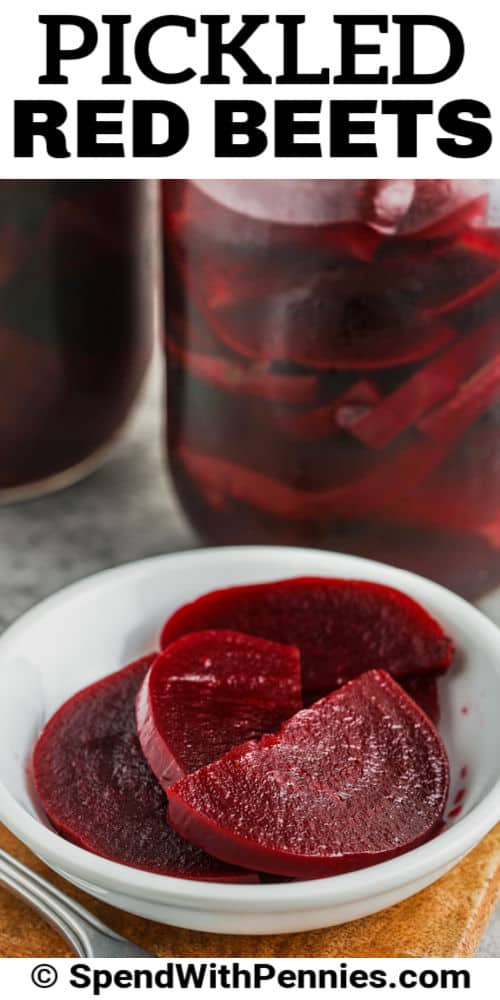 plated Quick Pickled Beets with a title