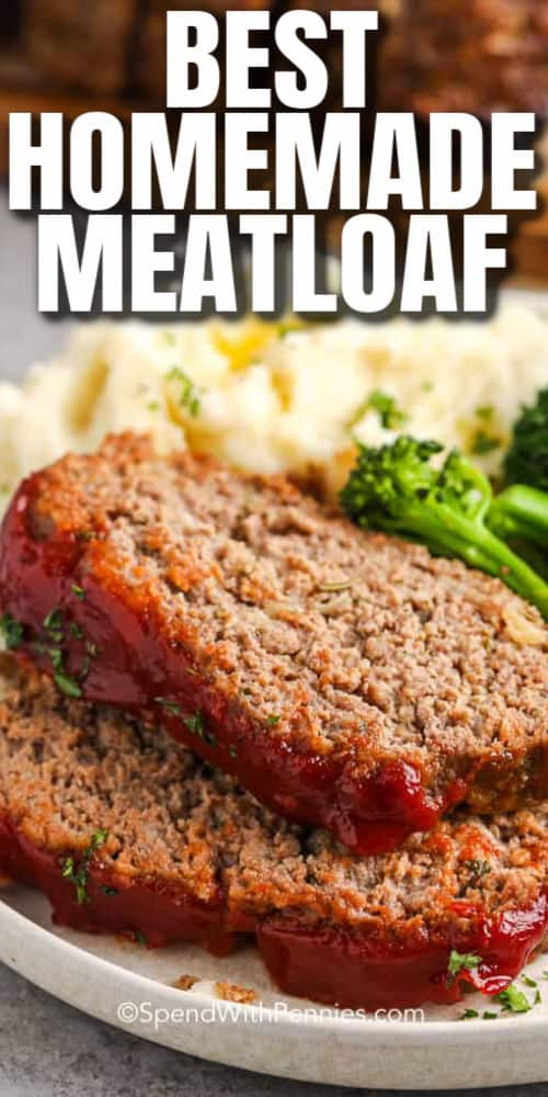 The Best Meatloaf plated with a title
