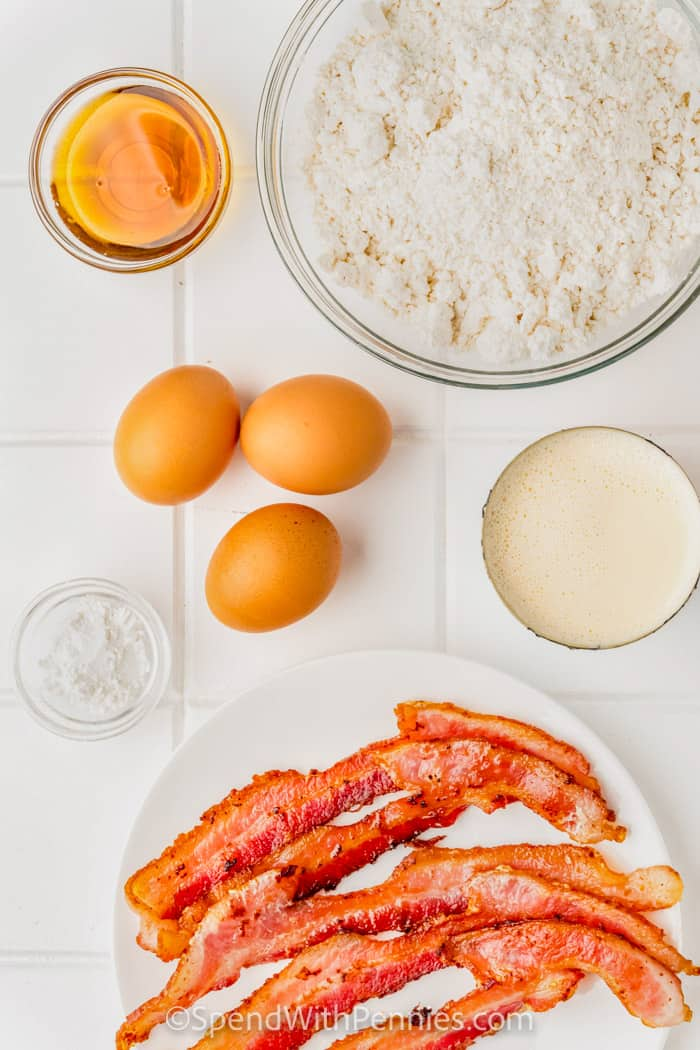 Ingredients for Bacon Pancakes