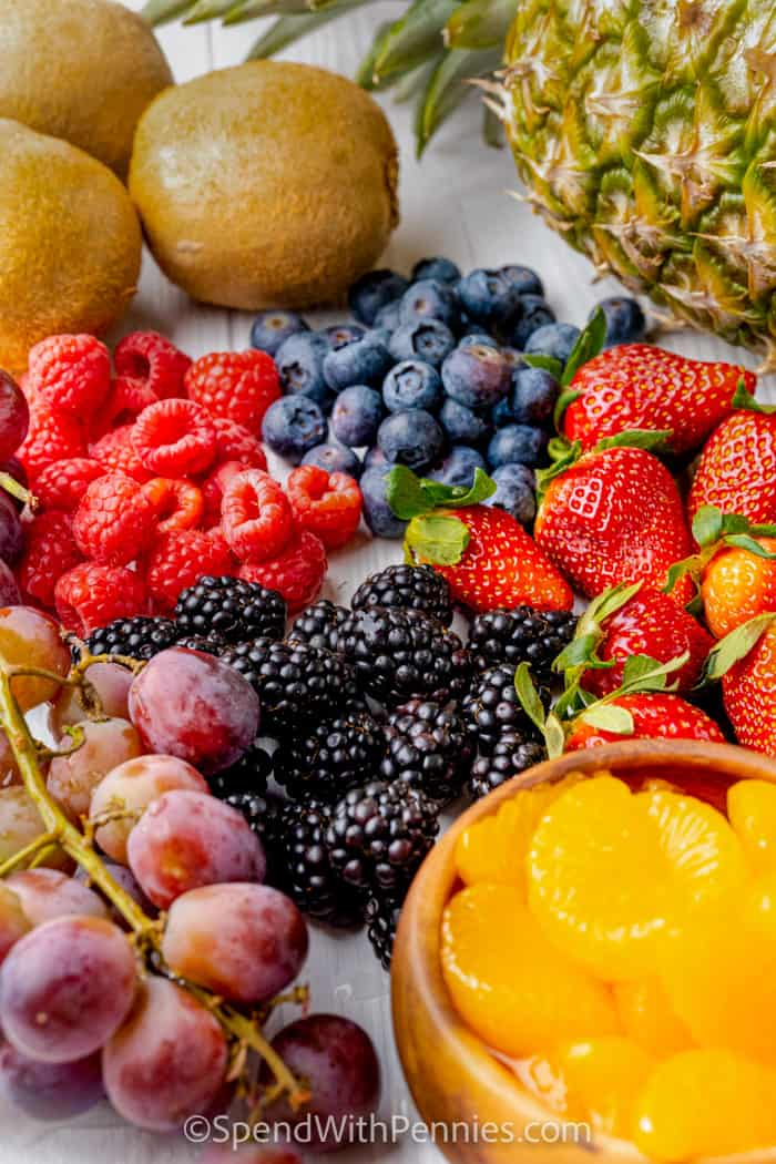 various fruit on a table
