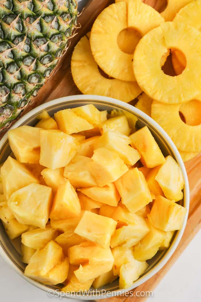 pieces of pineapple for How to Cut a Pineapple