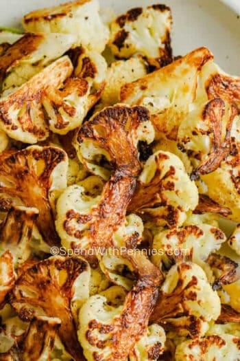 close up photo of roasted cauliflower