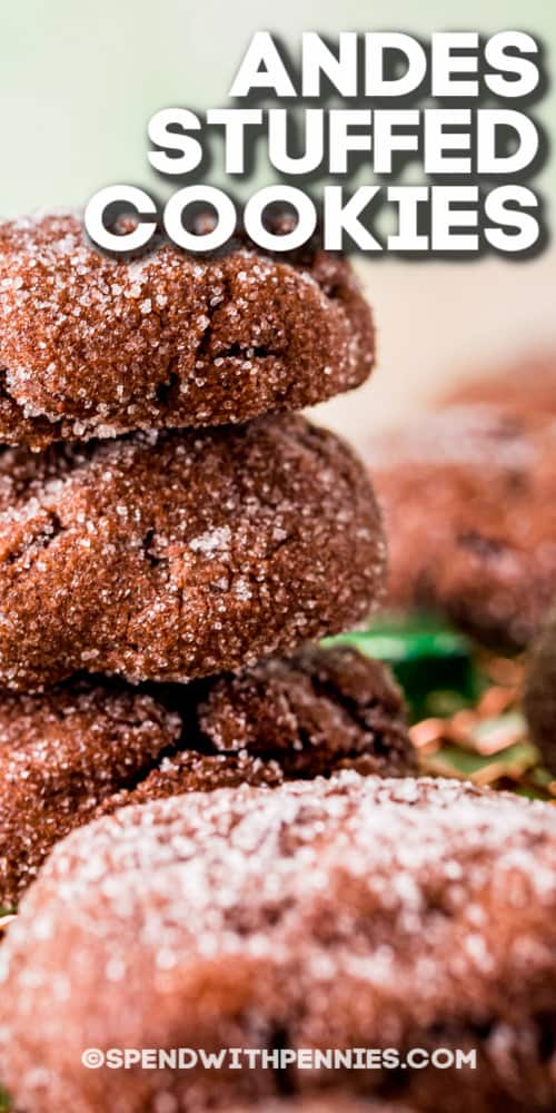 Andes Stuffed Cookies with text