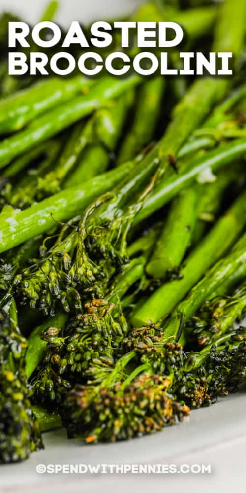 roasted broccolini with text