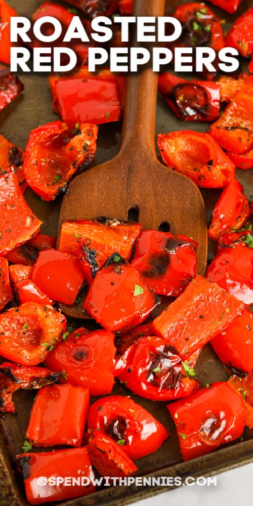 Roasted Red Peppers with text