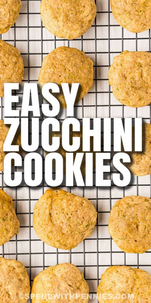 cooling Zucchini Cookies with a title