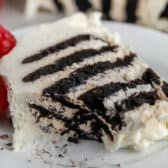 slice of Chocolate Icebox Cake on a plate