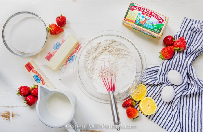 ingredients to make Strawberry Bread