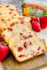 Strawberry Bread cut into slices