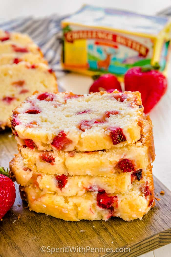 stack of Strawberry Bread