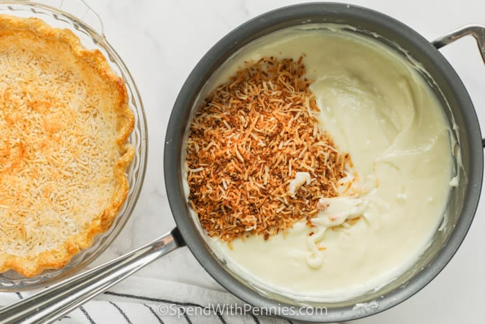 process showing how to make Ultimate Coconut Cream Pie